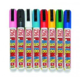 Zwart - Posterman krijtstift 2-6 mm