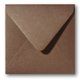 Envelop Roma 16 x 16 cm - 50 stuks - Metallic Brons