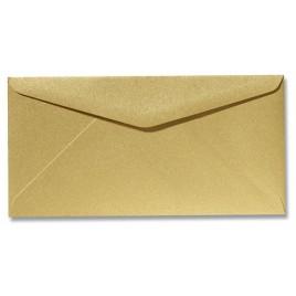 Envelop Metallic - 11 x 22 cm - 50 stuks - Metallic Rose