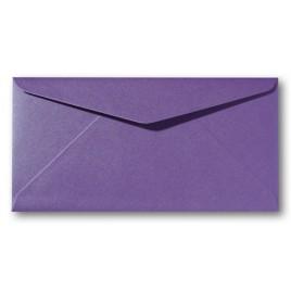 Envelop Metallic - 11 x 22 cm - 50 stuks - Metallic Red