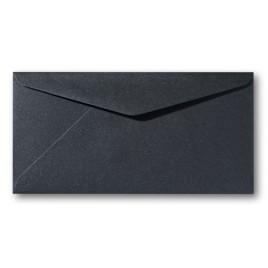 Envelop Metallic - 11 x 22 cm - 50 stuks - Metallic donker grijs