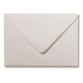 Envelop Metallic  - 11 x 15,6 cm - 50 stuks - Metallic  Wit