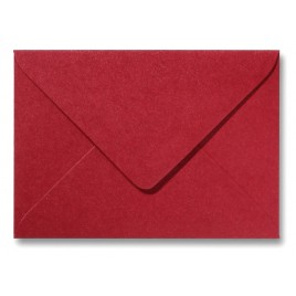 Envelop Metallic  - 11 x 15,6 cm - 50 stuks - Metallic  Rosso