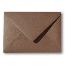 Envelop Metallic  - 11 x 15,6 cm - 50 stuks - Metallic  Brons