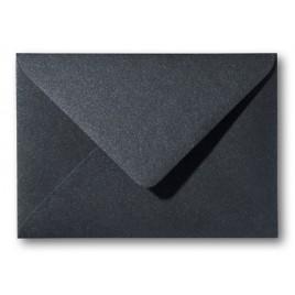 Envelop Metallic  - 11 x 15,6 cm - 50 stuks - Metallic  Donker grijs