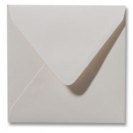 Envelop Metallic - 16 x 16 cm - 50 stuks - Metallic Wit