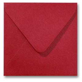 Envelop Metallic - 16 x 16 cm - 50 stuks - Metallic Rosso