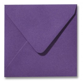 Envelop Metallic - 16 x 16 cm - 50 stuks - Metallic Violet