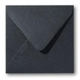 Envelop Metallic - 16 x 16 cm - 50 stuks - Metallic Donker grijs