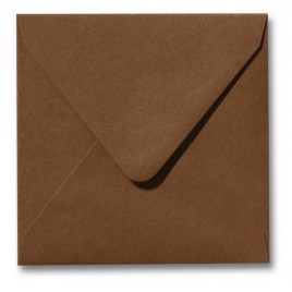 Envelop - Roma - 14 x 14 cm - 50 stuks - Metallic Olijf