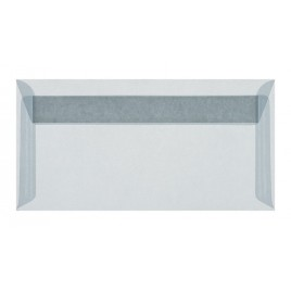 Transparant wit striplock 11 x 22 cm -  pak 50 st.