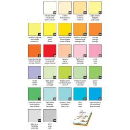 gekleurd papier - diverse afmetingen