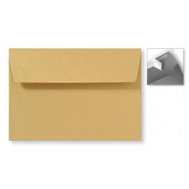 Envelop Striplock 12,6 x 18 cm - Metallic gold rush   - 120 GM - Rechte klep - Striplock