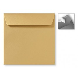 Envelop Striplock 16 x 16  - Metallic Gold  - 120 GM - Rechte klep - Striplock