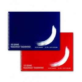 Schetsboek BHV 24x32 cm 24 vel 160 grs radeervast. Doorlopende spiraal