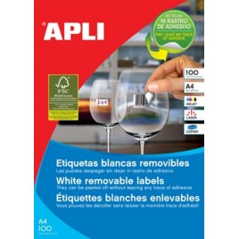 Apli afneembare witte etiketten - 38 x 21,2 mm (b x h)