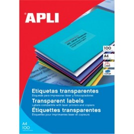 Apli Transparante etiketten ft 48,5 x 25,4 mm (b x h)